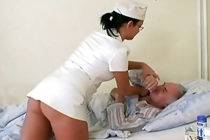 grandad chick fucking the nurse