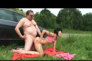 grandpa giving weenie to babe