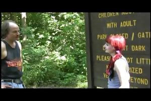 redneck flogging in the park