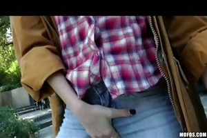 busty golden-haired nasty cowgirl fists &