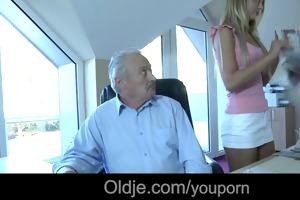old rich granddad bonks his juvenile dummy maid