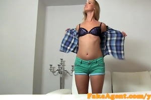 fakeagent st time creampie for sexy blond
