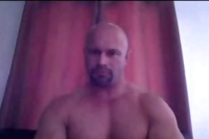 str8 daddy shows off that is brawny bod and shlong