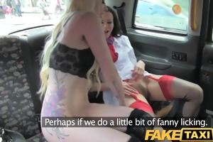 faketaxi gang group-sex fuck fest taxi style