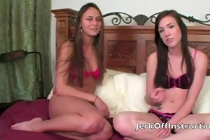 step sister and ally make jerk off
