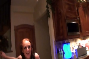 literally a sexy redhead farmers daughter bare