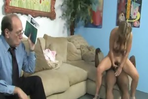 watching my youthful hot daughter group-fucked by