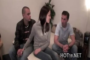 angel gangbanged in advance of her bf