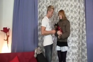 wench cheating her bf with his younger brother