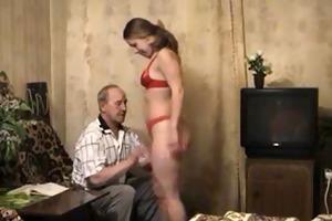 older man and granddaughter