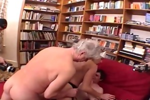 ten old lads fuck a younger golden-haired with