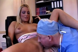 blond hottie anal drilled by a immodest doctor