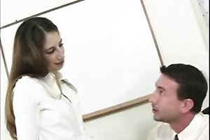 youthful playgirl takes the shlong from her mouth