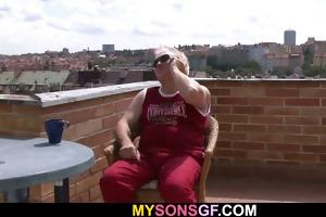 lascivious father bonks his sons girlfriend