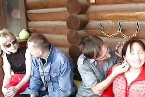 juvenile and old swinger couples fuck jointly by