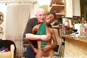 small youthful gal jade from africa bonks old