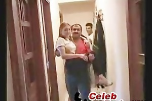 turkish daddy and son fucks three-some mother and