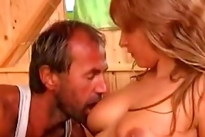 sexually excited daughter enticed her own father