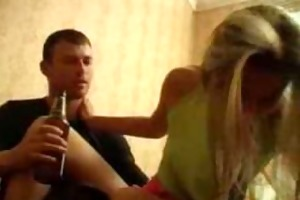 drunk little angel drilled by crazy brother