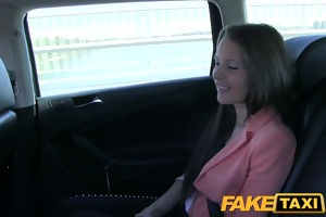 faketaxi youthful girl pounded to make up for