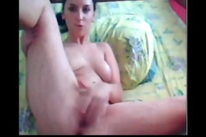 fine woman fingering on webcam sologirl
