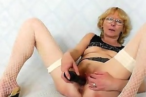 blondie mother gapes and bonks her fuck aperture
