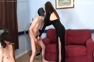 breasty daughter hardcore group sex