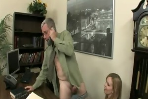 cute golden-haired miss marie fuck her old boss