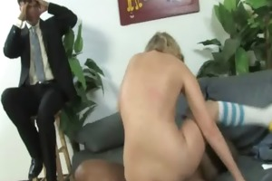 youthful daughter with valuable ass screwed by a