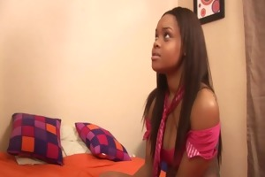 breasty ebony receives screwed by her step