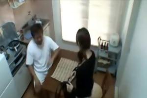 daddy copulates sons gf in kitchen