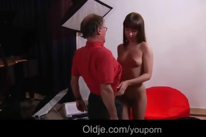 old erotic photographer fucks cute youthful model
