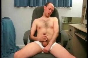 real non-professional dad jerking off on cam