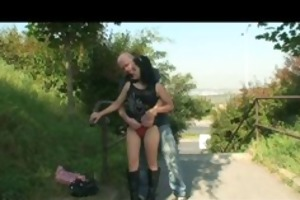 grand-dad fucking a fine brunette sweetheart and