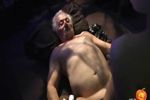 cheerful sex-alloween night for grand-dad