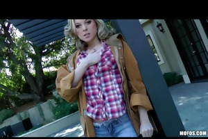 breasty golden-haired nasty cowgirl fists &