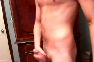 sexy vocal lad stroking with fleshlight web camera