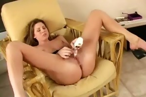 girlie plays with marital-device