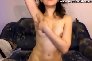 cute russian juvenile mother widens vagina