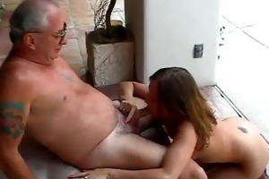 hotty receives face hole drilled by old chap