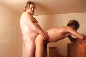 chubby dad pounds his younger partner