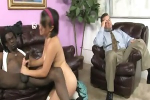 youthful daughter receives pounded by big dark